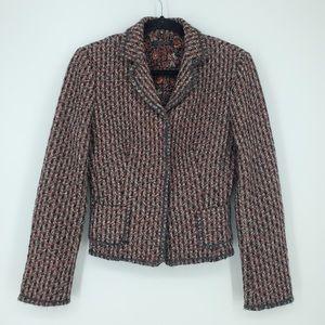 Elie Tahari Professional Tweed Blazer Sz Small